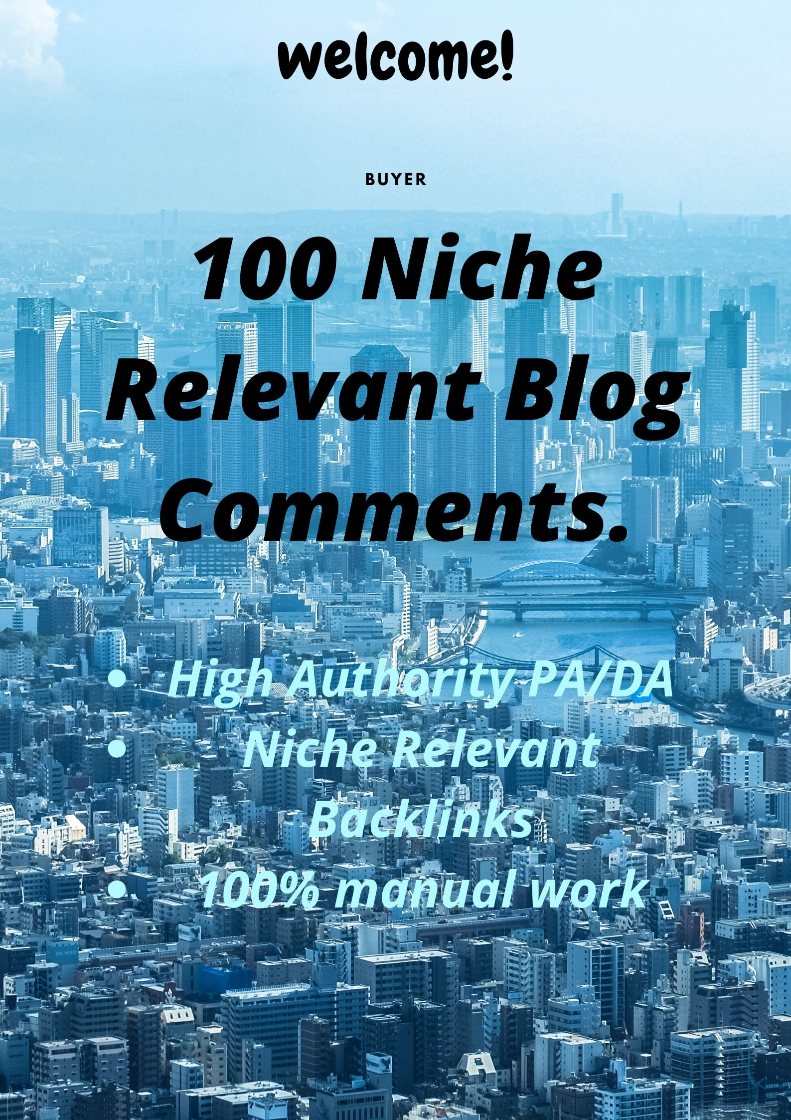 I will do 100 niche relevant blog comment manually