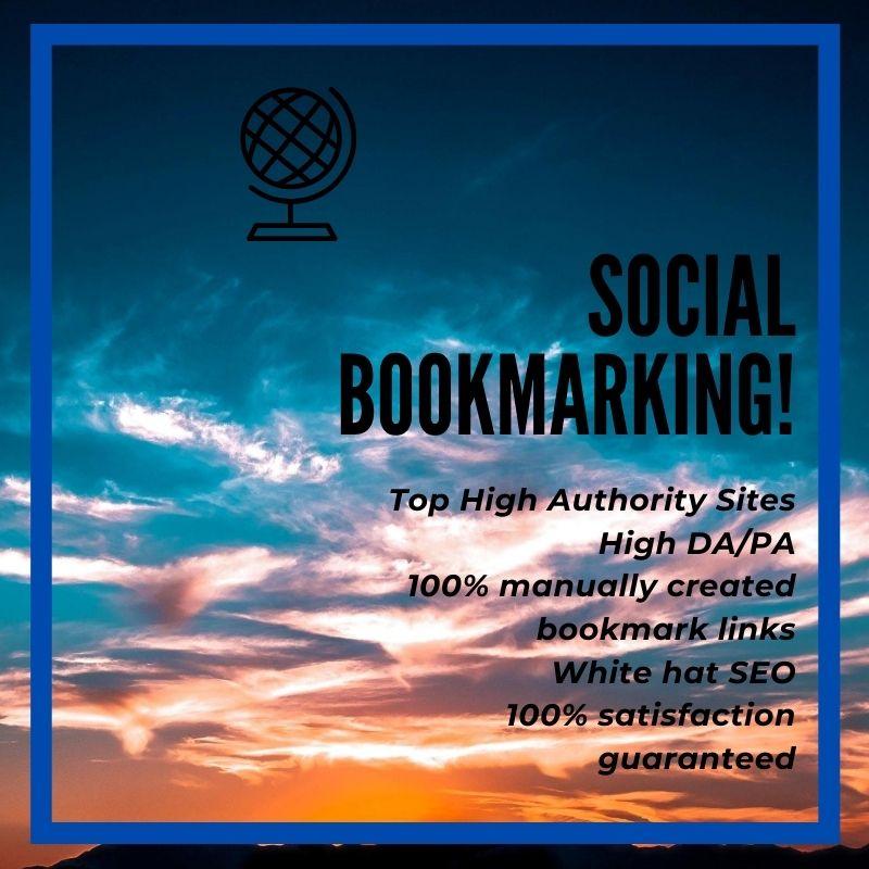 I will do social bookmarking manually on SEO for website ranking