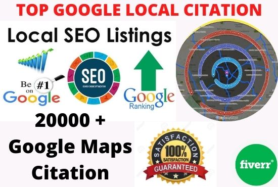 i will create manually google map citations for local SEO business, gmb ranking