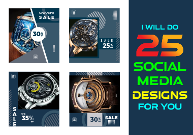 I will do 25 Social Media design for your business