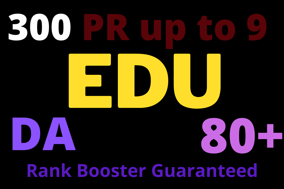 300 EDU GOV SEO Backlinks From 80+ High Authority Domains
