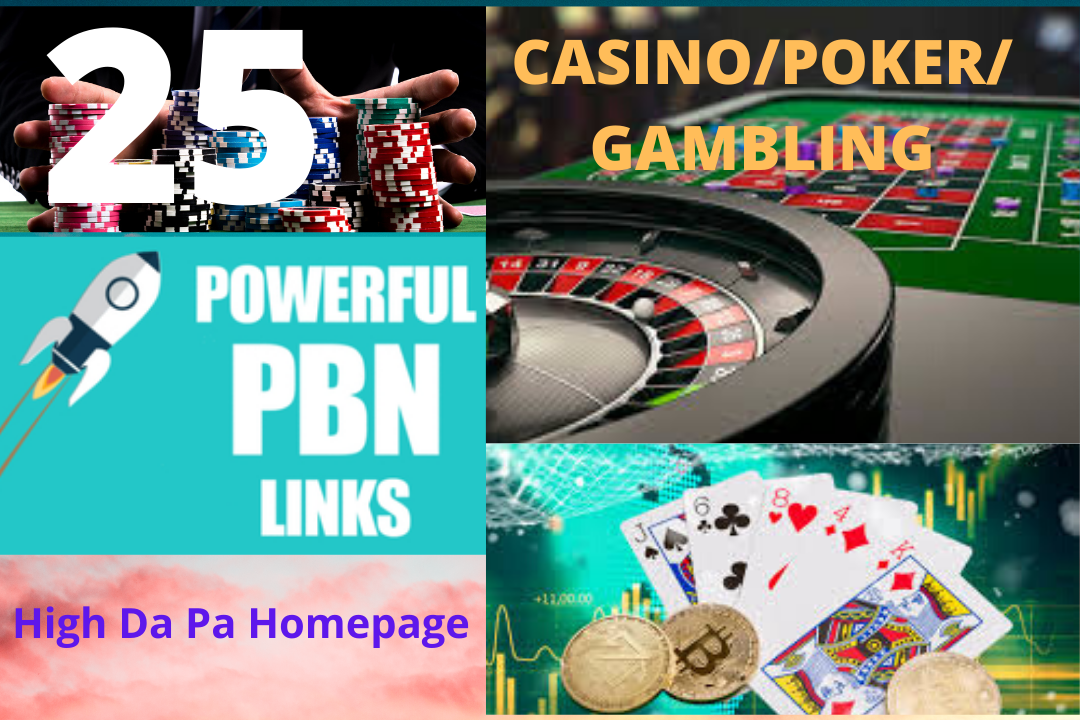 PBN PA HQ 25 Casino, Gambling, poker, Betting services highly trusted pbn homepage backlinks