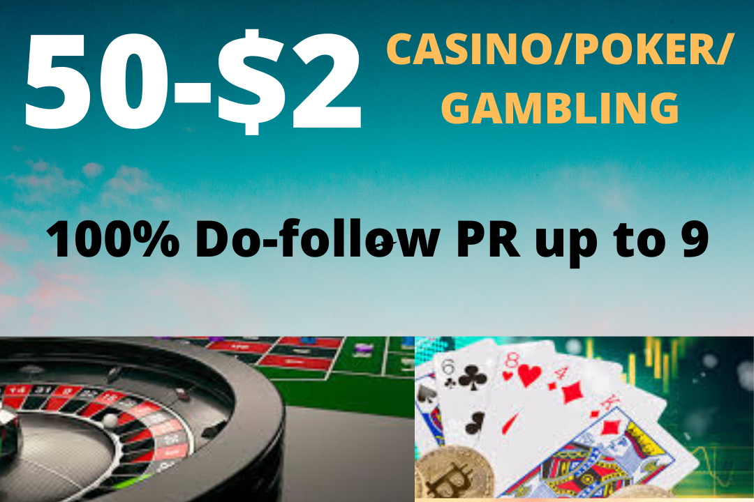 Buy basic package of Gambling, poker, Betting related 100 high quality high da links