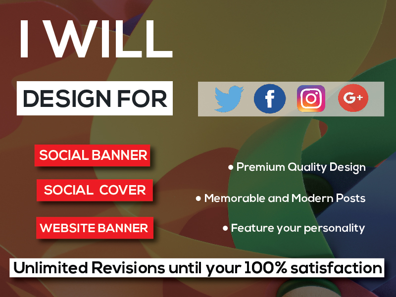 I will create an effective Facebook or twitter banner ads