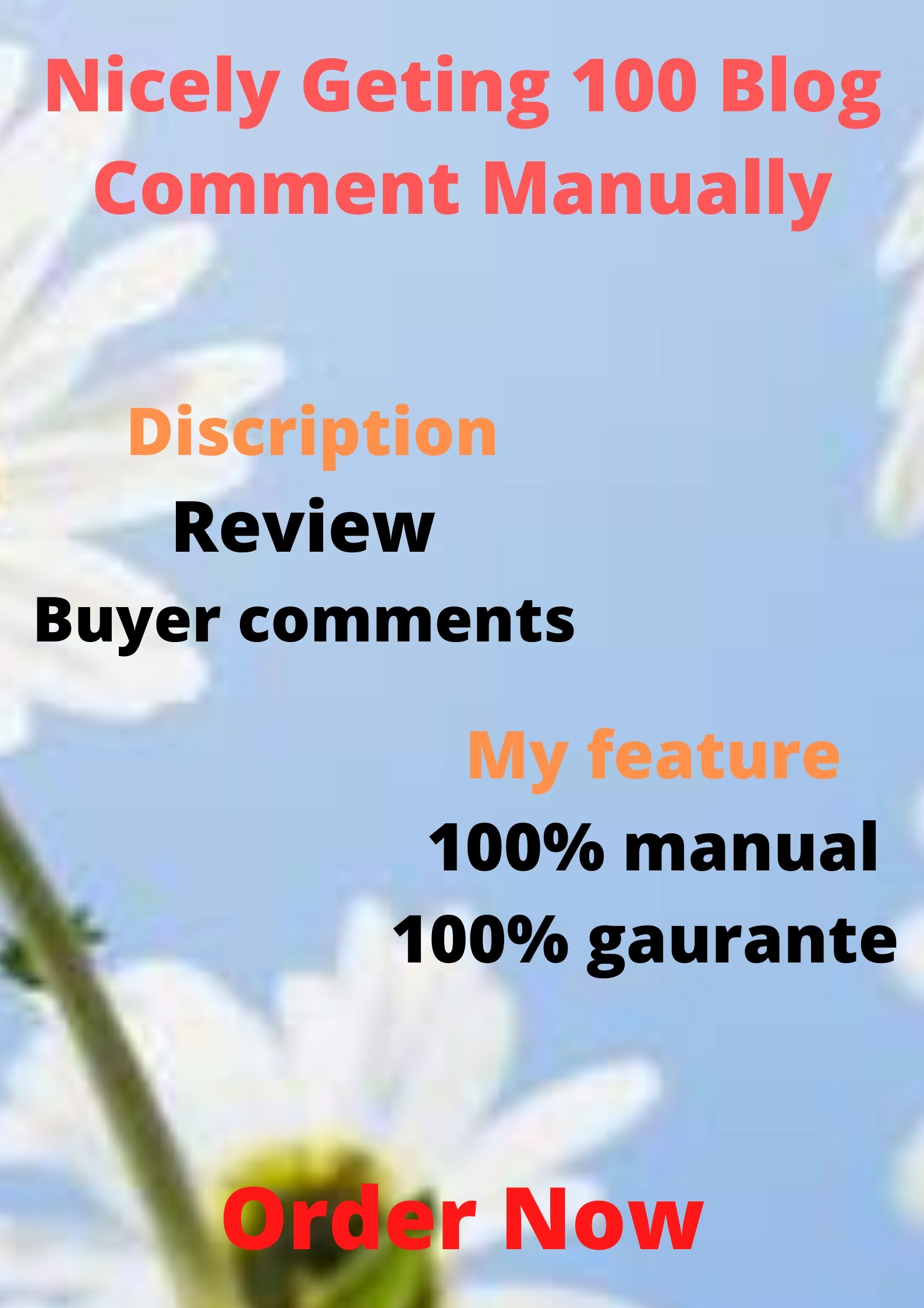 Nicely Getting 100 Blog Comment Manually