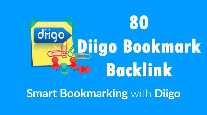 Diigo High Quality 80 Bookmark backlink PR8-9 Google 1