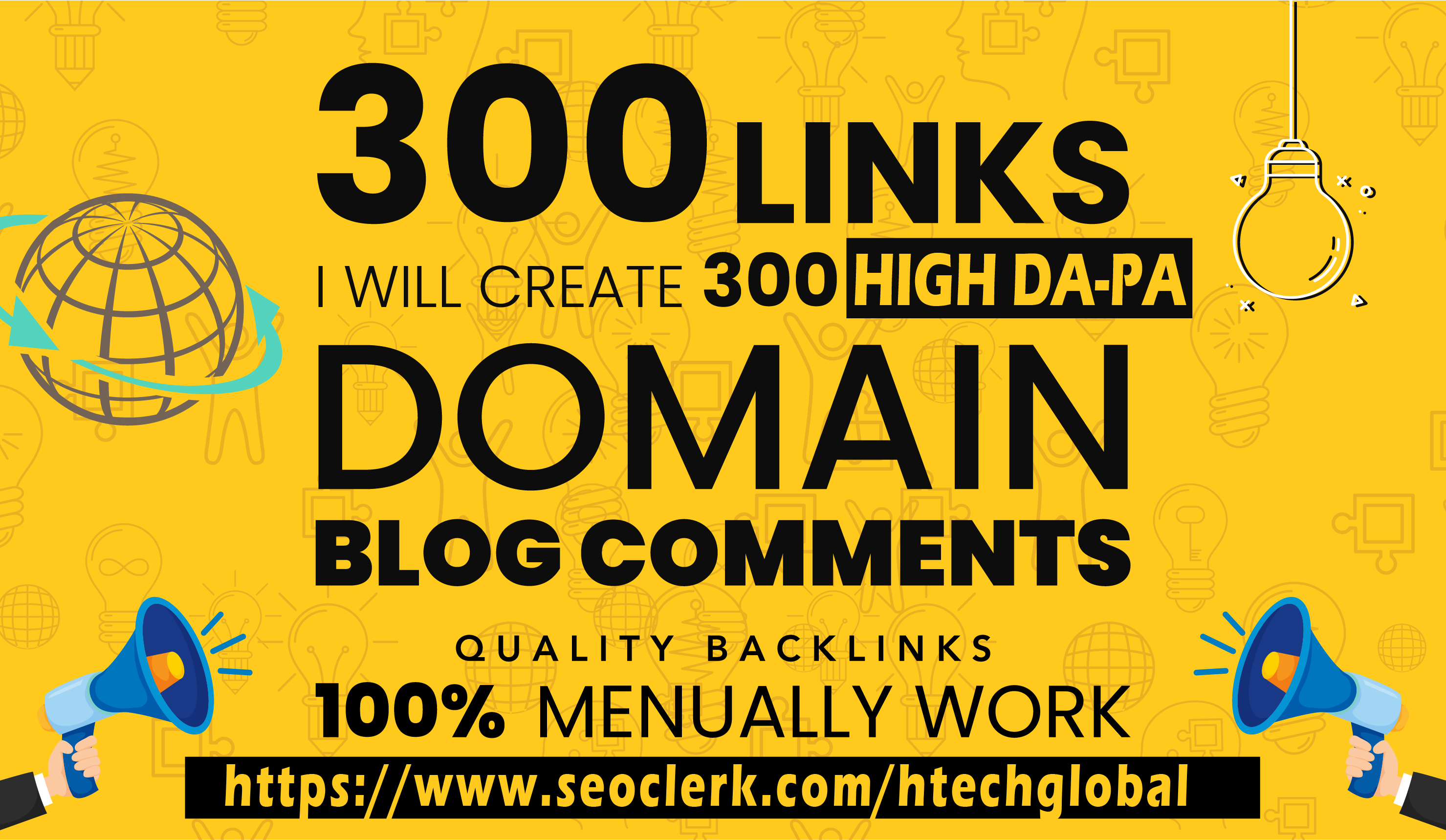 i will create 300 backlinks High DA PA with safe 2020 algorithm update from Google
