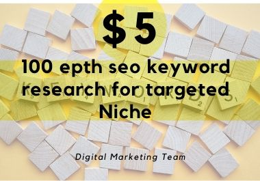 100 Depth seo keyword research for targeted niche