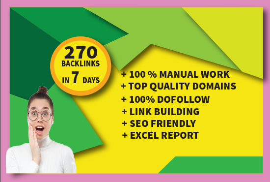I will do 270 profile backlinks with high 55+ DA