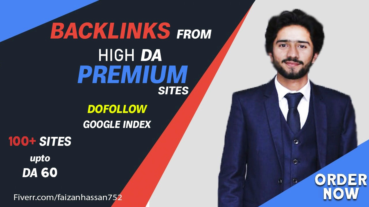 I will give you backlinks from my high da premium sites