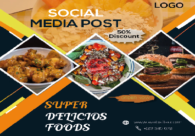 I will create social media post and social posts banners design