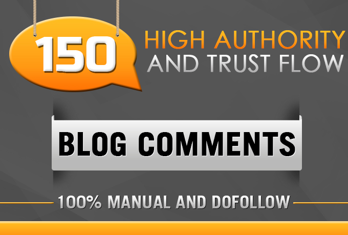High Authority Blog Comments on Good Trust Flow on Pages
