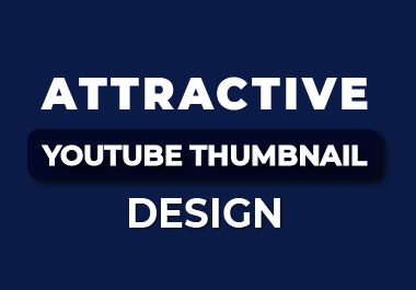 I will create an attractive youtube thumbnail