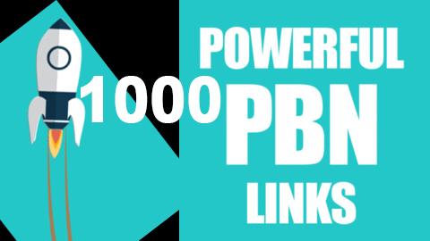 1000 powerful PBN high DA 50 & DR 30 to 70 dofollow backlinks skyrocket ranking