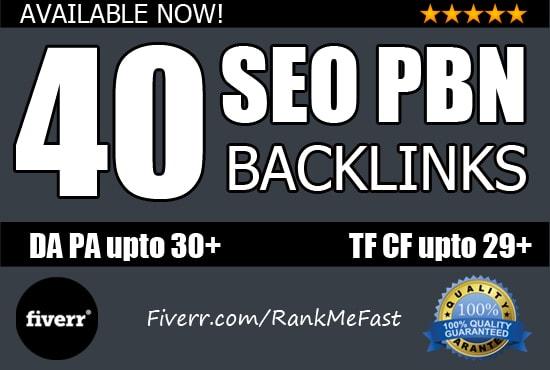 40 powerful PBN high DA 50 & DR 30 to 70 dofollow backlinks skyrocket ranking
