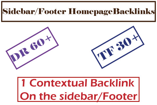 I will make 15 high DR homepage sidebar and footer dofollow backlinks