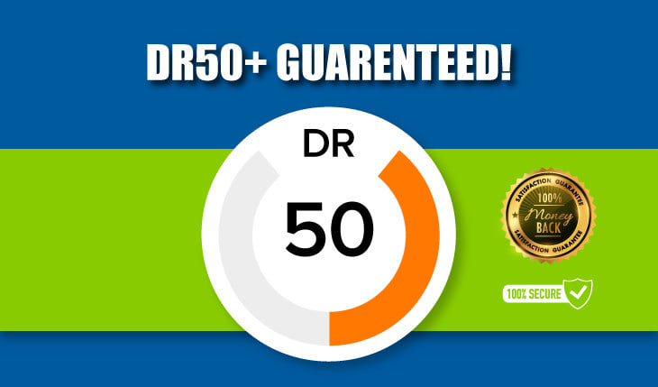 I will increase domain rating ahrefs DR 0 to 50 in cheap