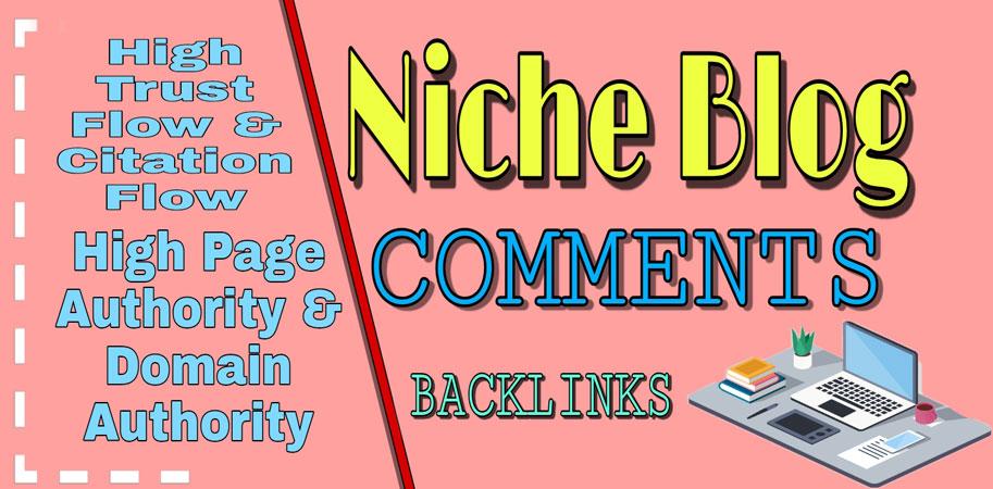 I Will Provide 100 Niche Relevant Blog Comments High DA Sites & Permanent Backlinks