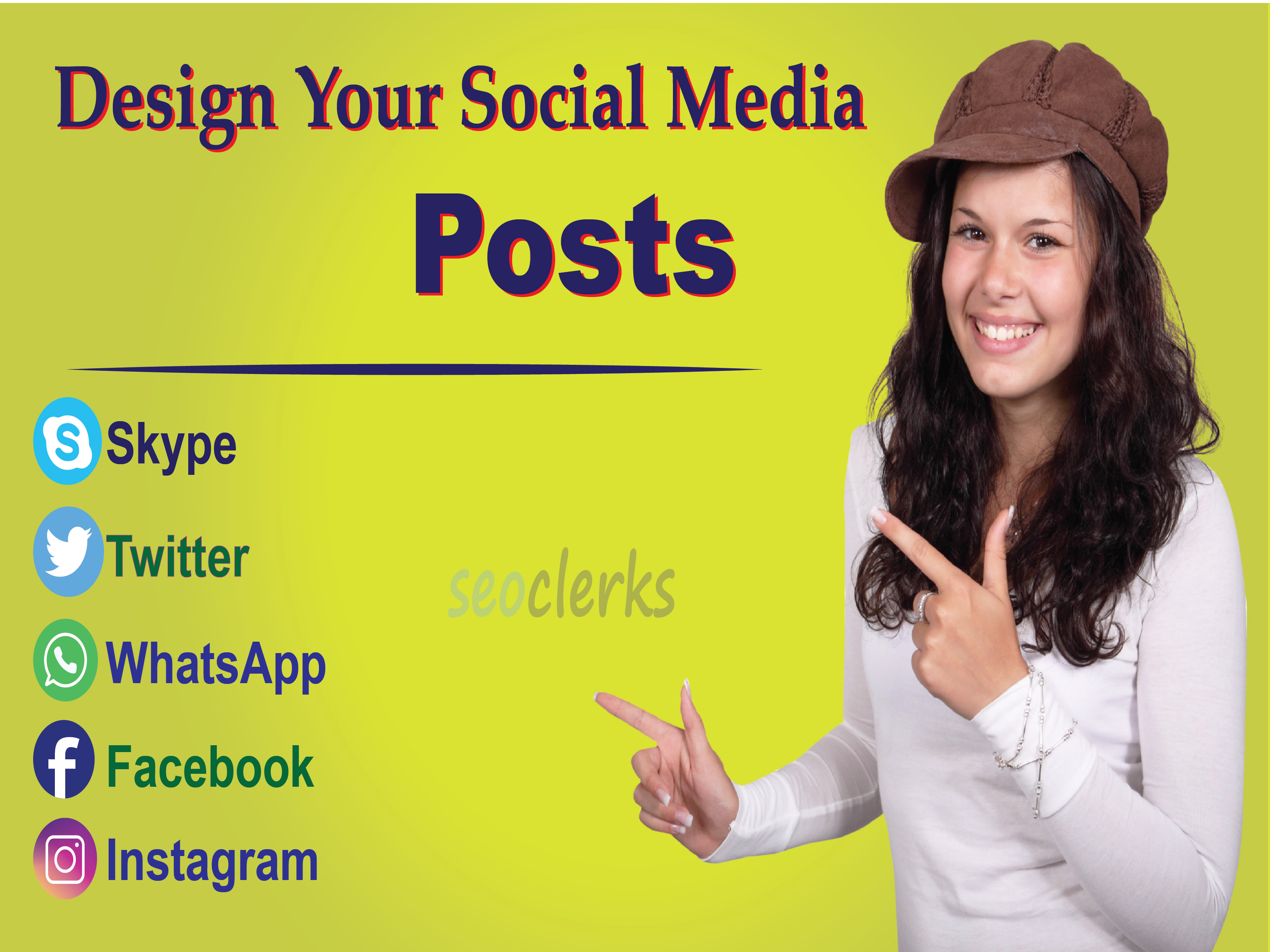 I will create amazing social media posts,  banner ads for Instagram
