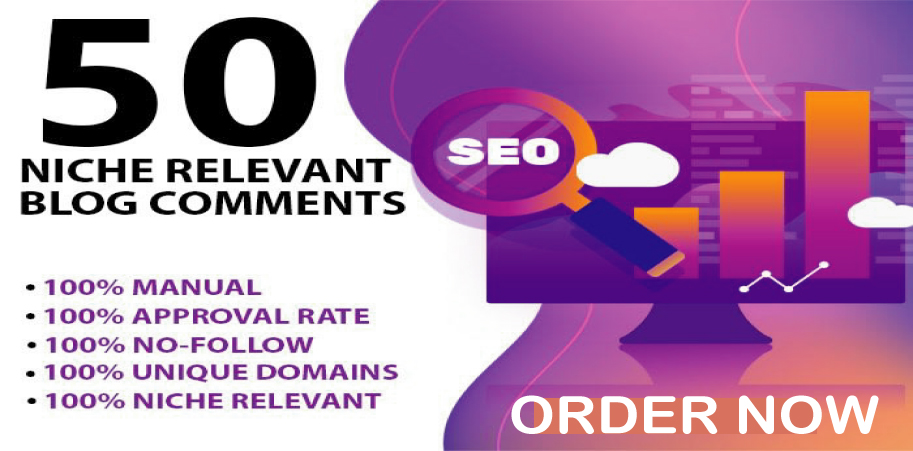 I will do 50 Niche Relevant Blog Comments Domain Authority 30+ Google Index Guaranteed
