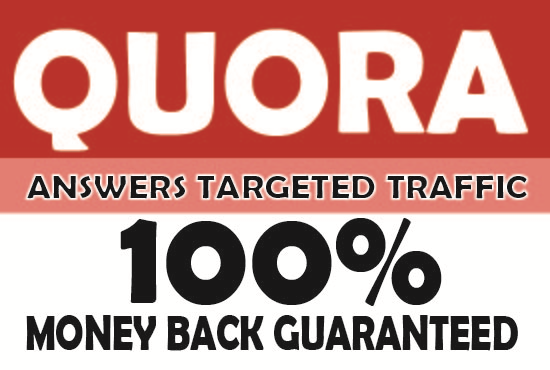 Targeted traffic your website in high quantity 5 Quora Answers.