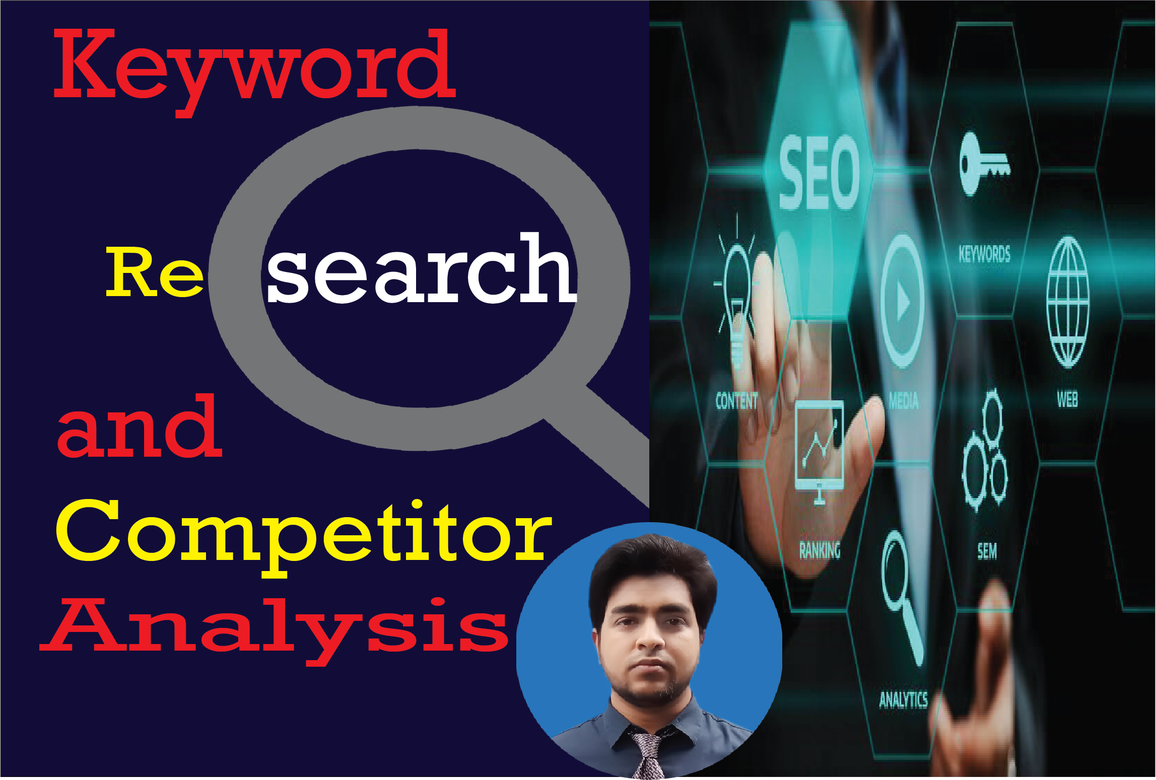 I will do keyword research and competitor analysis for google rank