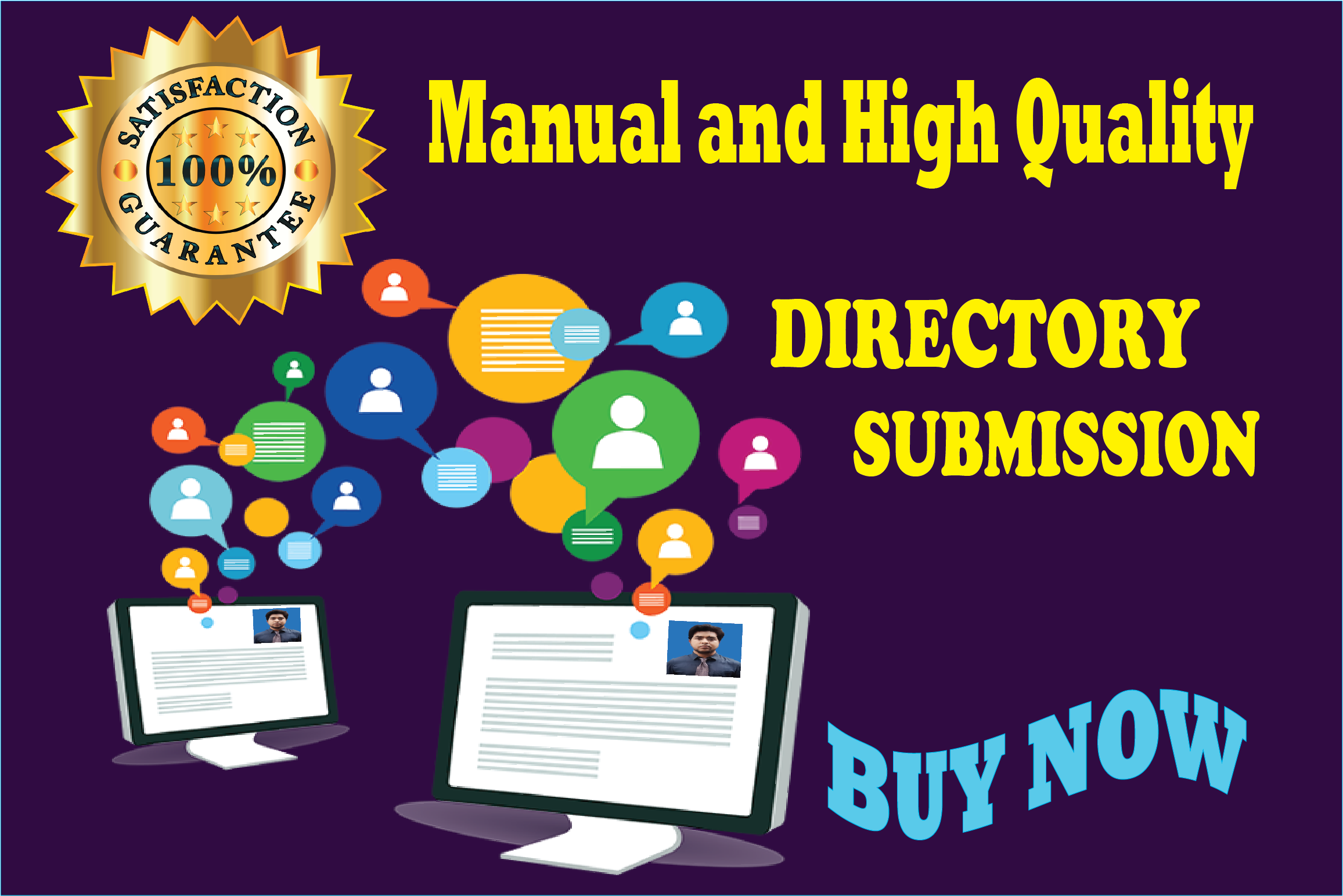 100 manual Directory Submission for your website