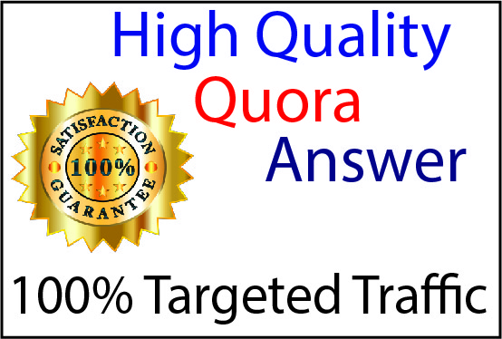 Get targeted traffic with 30 HQ Quora Answers