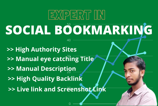 I Will do 25 Manual social Bookmarking in High Authority Site to Promote a website in