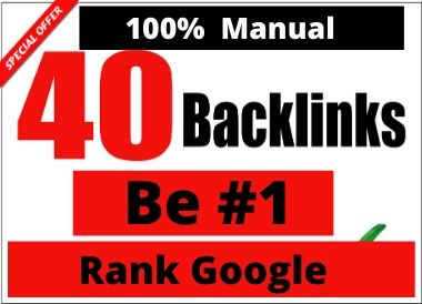 Manual 40 Profile Backlinks boost google rank permanent linkbuilding