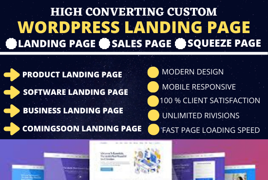 I Will Create Wordpress Landing Page
