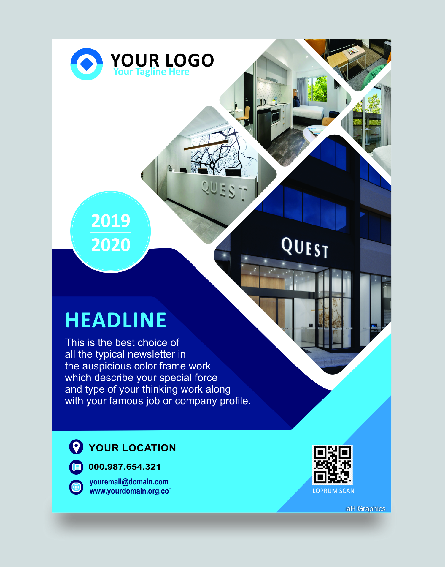 I will design a modern and professional flyer for you