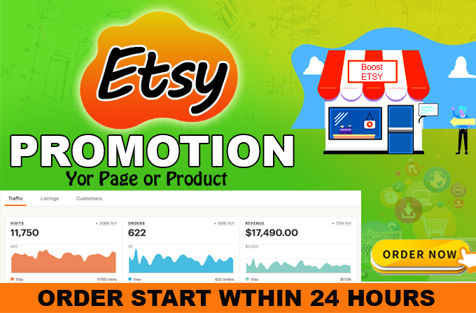 USA targeted Etsy store marketing promotion with Boost your product Sales