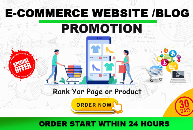 Promote your etsy,  ebay,  amazon stores,  products real traffic to websites for 30 days