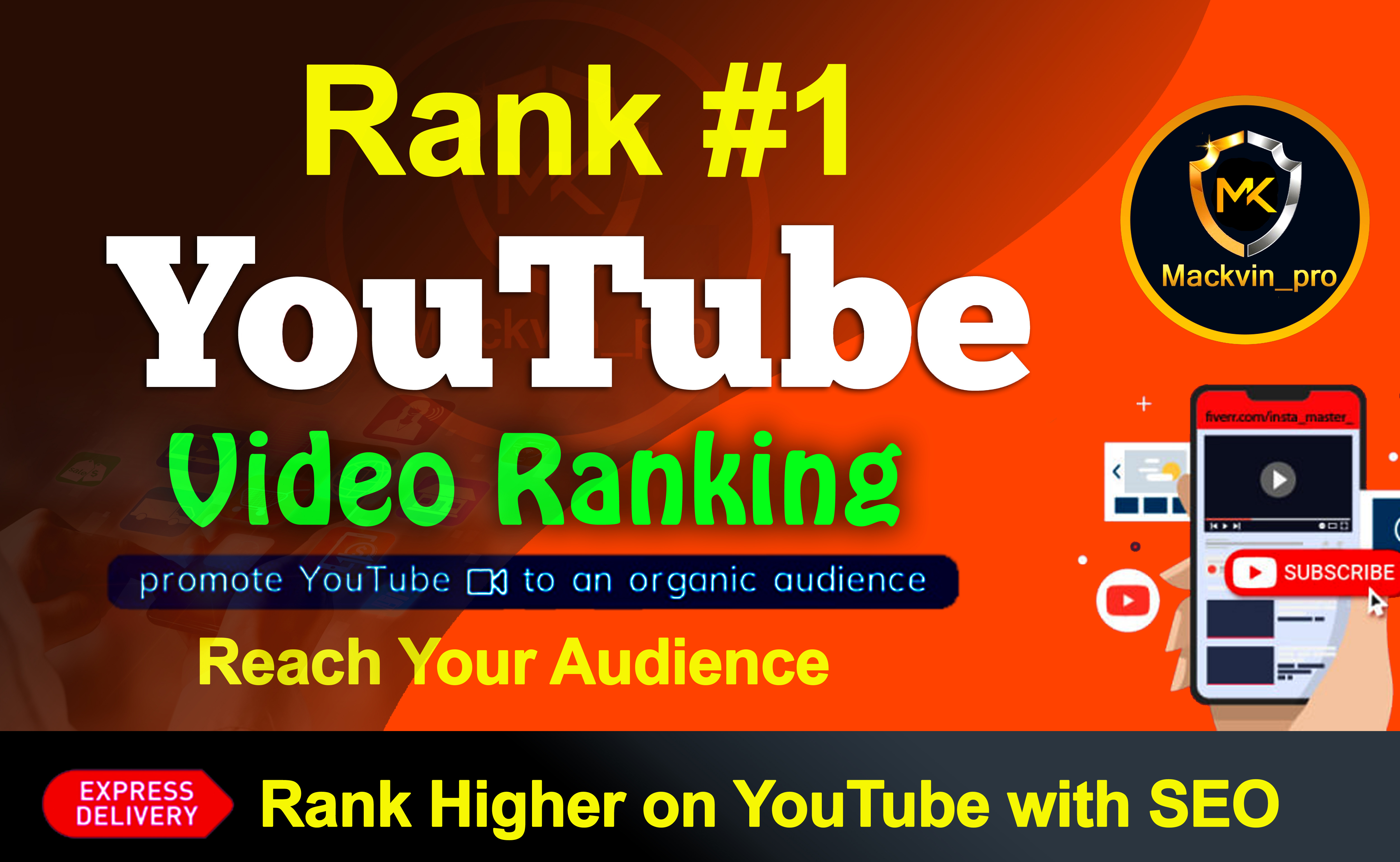 YouTube Video promotion Ranking on First Page with Real Audience and SEO