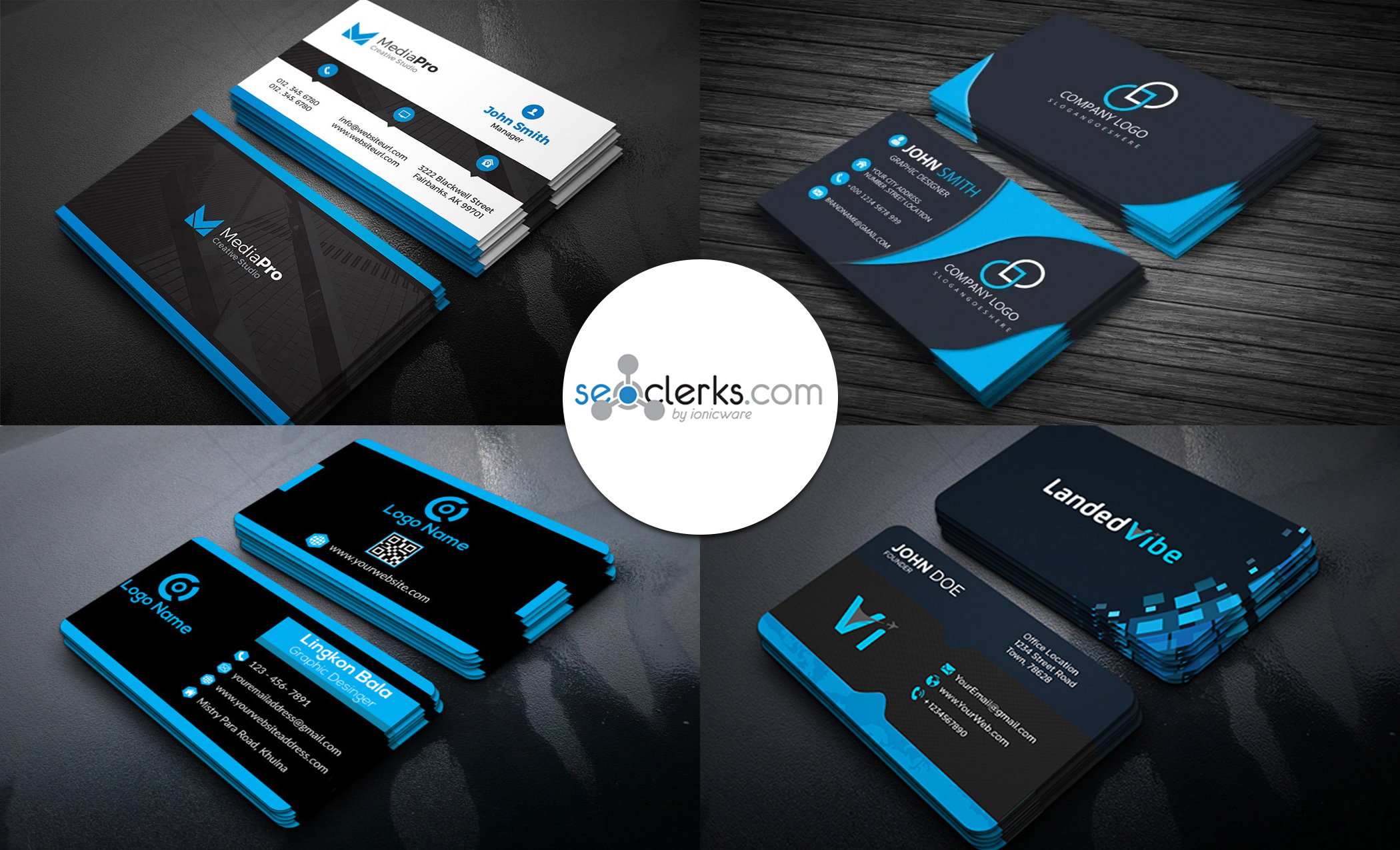 I will design professional modern minimal business card and logo
