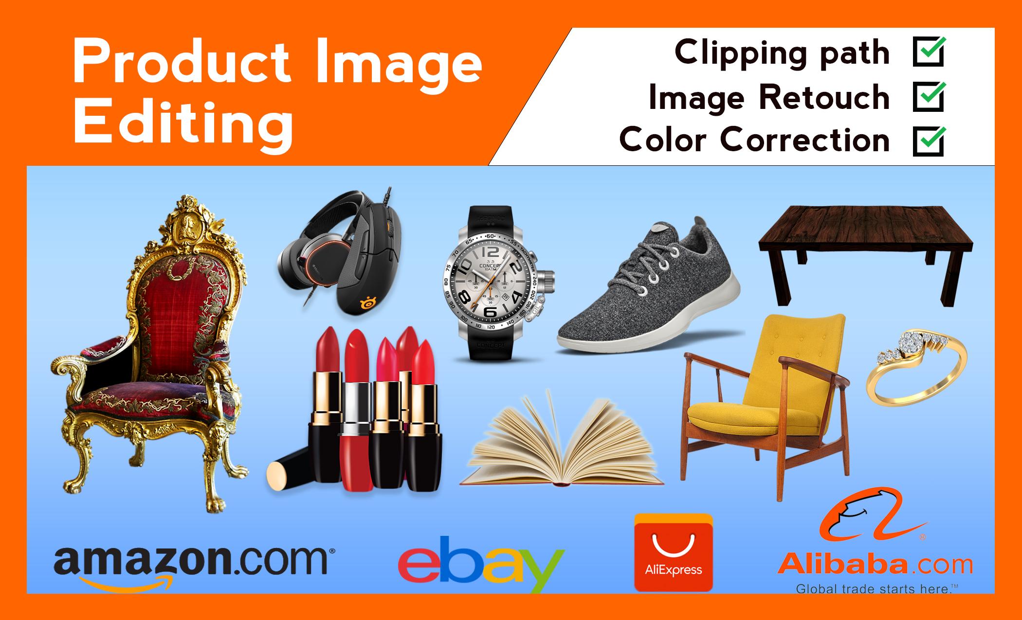 I will do Photoshop image editing,  background remove,  product image editing,  photo retouching