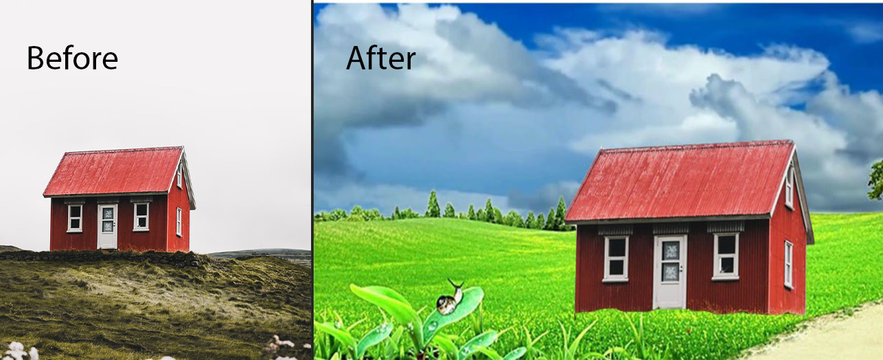 I will do Graphic Design background change of images in 24 hour