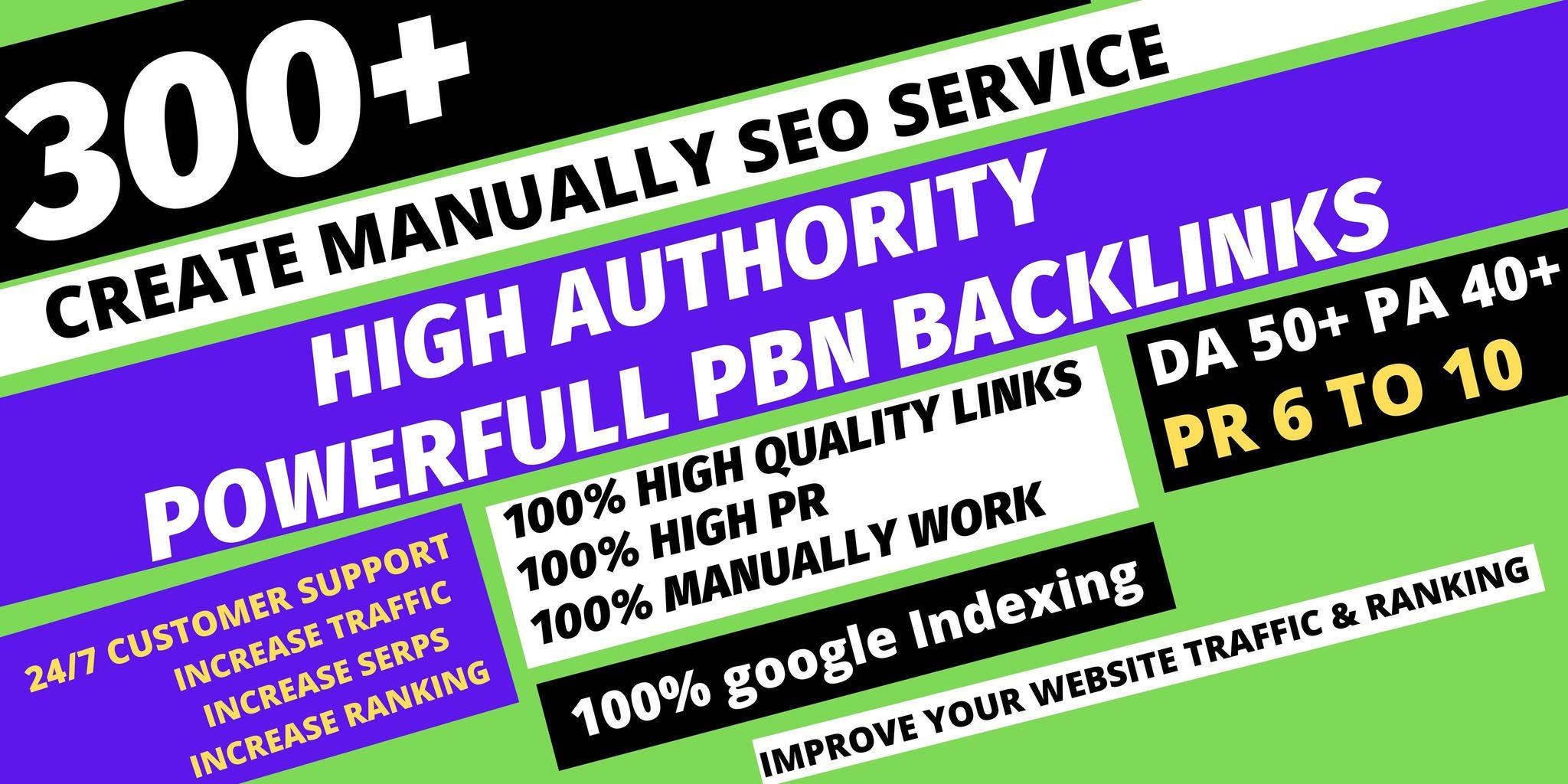 get permanent 300 Pbn Backlink DA50+PA40+PR6+homepage web 2.0 with dofollow unique site
