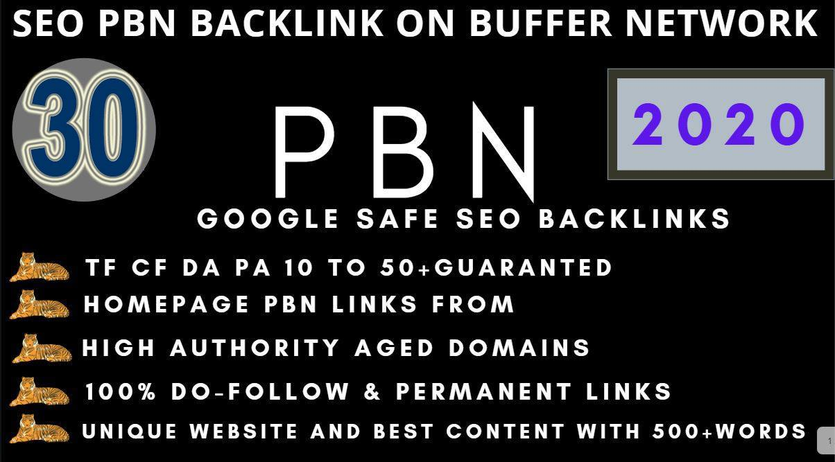 Get Extreme 30+PBN Backlink in your website hompage with HIGH DA/PA/TF/CF with unique website