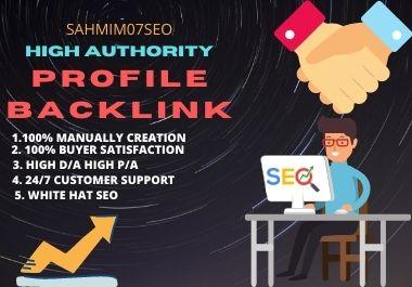 I will do 50 high P/A,D/A profile backlinks manually