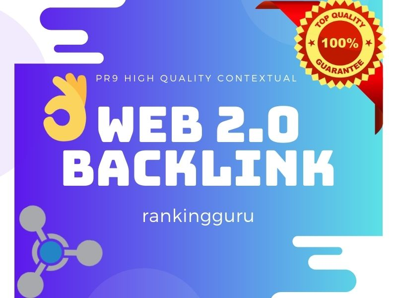 I'll Do 20 Web 2.0 Contextual Backlinks of High PR mostly dofollow