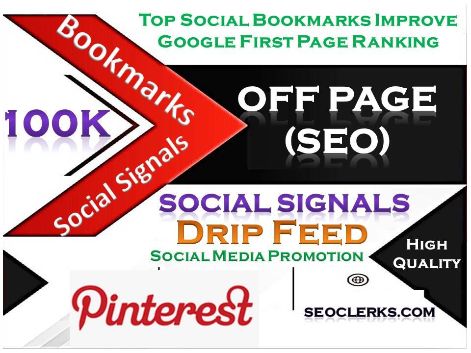 TOP Powerful Site 100K Social Signals Pinterest Bookmark Backlinks SEO Boost increase Google Ranking