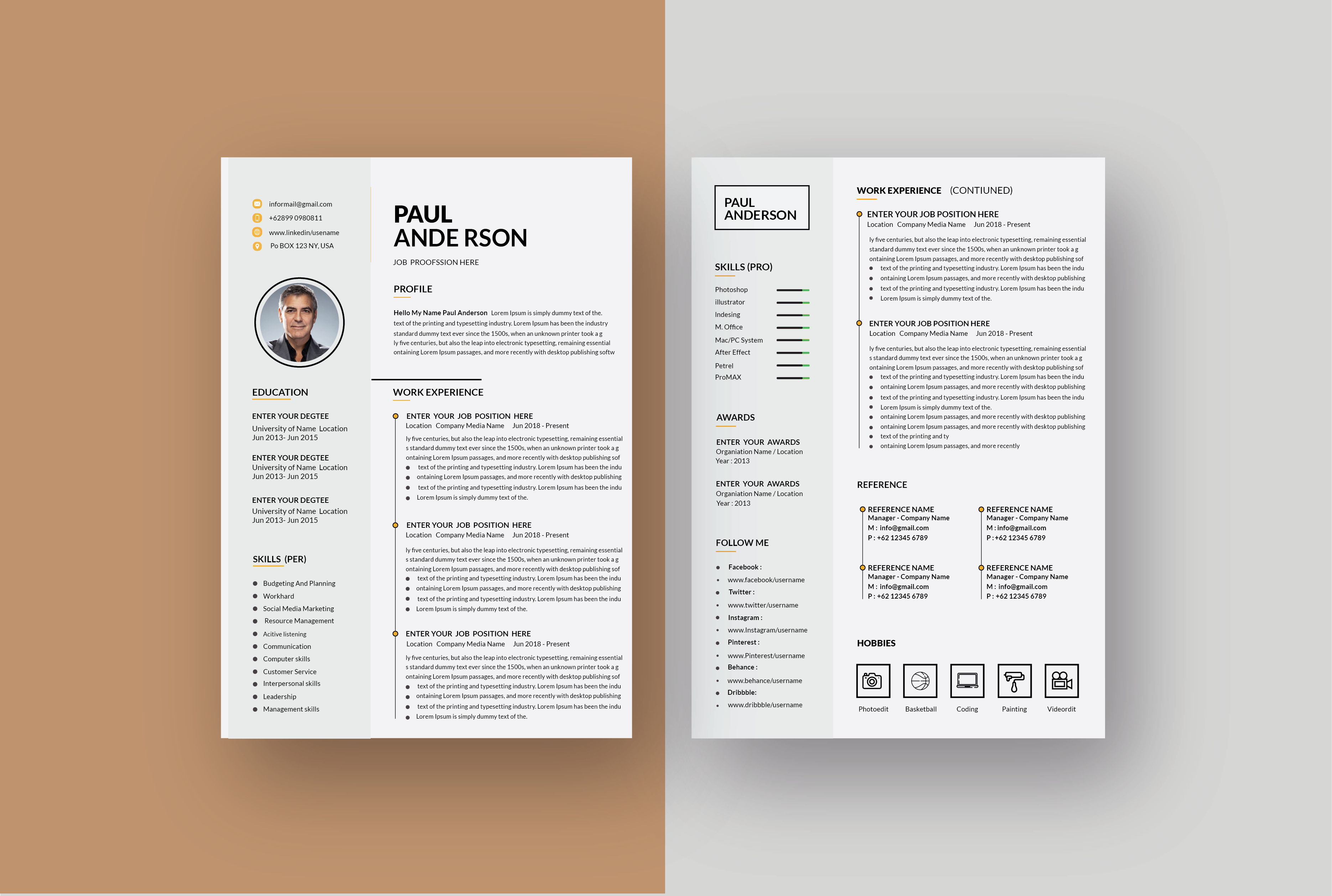 I will do best modern resume and cv design