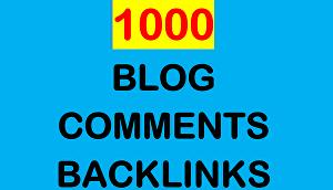 i will do Manually 1000 high Blog comments backlinks on high DA blogs