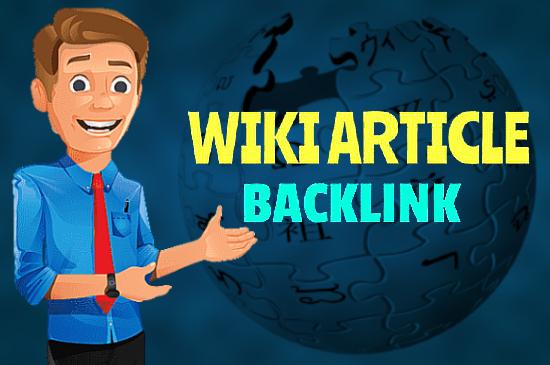 300 contextual Wiki articles Backlinks