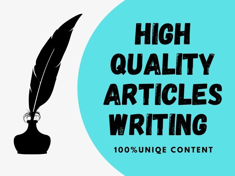 I will write high quality unique article