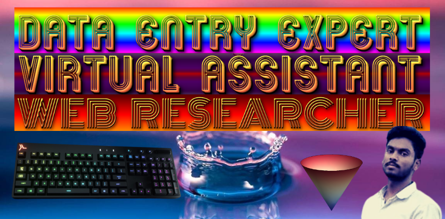 I Will Do Advance Data Entry & Virtual Assistant & Web Research Job in All Country, s Any Organizatio