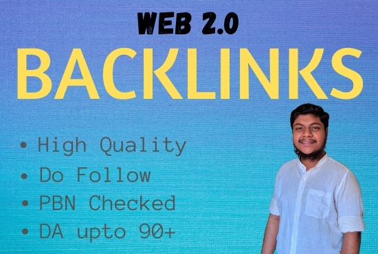 I Will Build 50 High Quality Web 2.0 Do Follow Backlinks