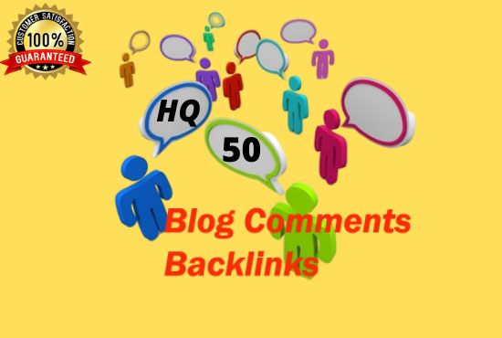 I will give 50 niche relevant blog comments